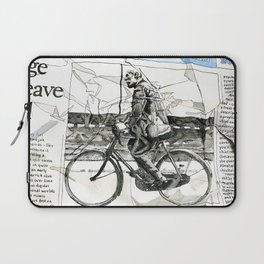 CP Scott on a Bicycle Laptop Sleeve