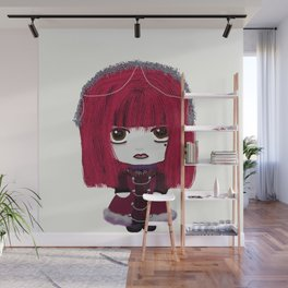 Little J-Rocker Sumiko - Visual Kei (Red) Wall Mural