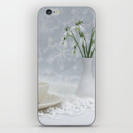 Snowdrops at Teatime iPhone Skin