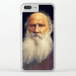 Leo Tolstoy, Literary Legend Clear iPhone Case