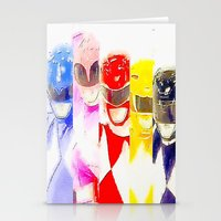 power rangers Stationery Cards featuring Power Rangers by americanmikey