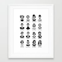 vogue Framed Art Prints featuring Vogue by EPHEMERAL IMPERFECT