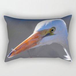 Great Egret Rectangular Pillow