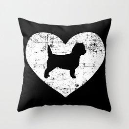 Cairn Terrier heart Throw Pillow