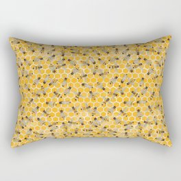 Bees on Honeycomb Rectangular Pillow
