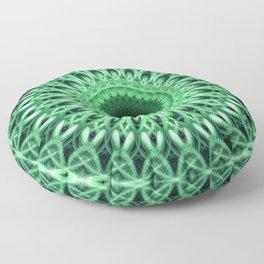 Detailed mandala in green tones Floor Pillow