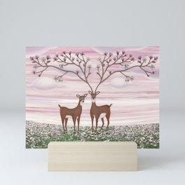 magnolia deer Mini Art Print