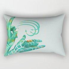 hand-shape aesthetic Rectangular Pillow