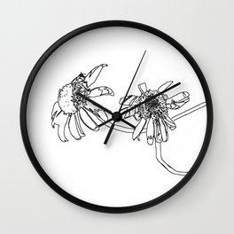 2 daisy flowers Wall Clock