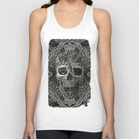 acid Tank Tops featuring Lace Skull by Ali GULEC