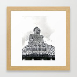 Big Buddha Framed Art Print