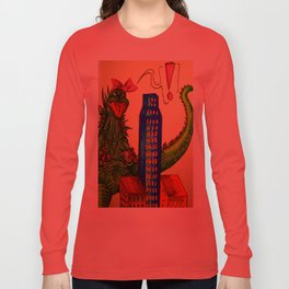 Godzilla boner Long Sleeve T-shirt
