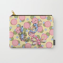 Dragonflies & Polka Dots Carry-All Pouch