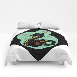 African Civet (Civettictis civetta) Oceanic Palette Comforters