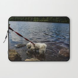 Puppy Stepping on Stones Laptop Sleeve
