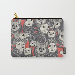 sweater mice coral Carry-All Pouch