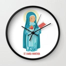 St Laura Montoya. Mother Laura Wall Clock