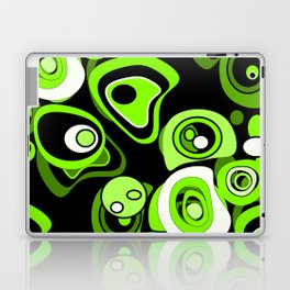 Abstract pattern black and green background . Laptop & iPad Skin