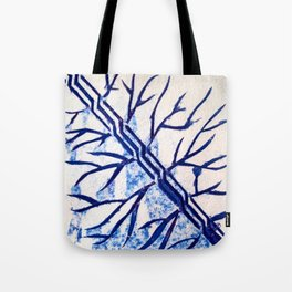 Growth blue Tote Bag