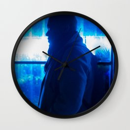 Man in front of Flowers Shop, B Wall Clock