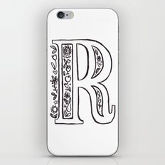 R is for iPhone & iPod Skin