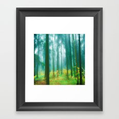 Fairy tale (Green) Framed Art Print