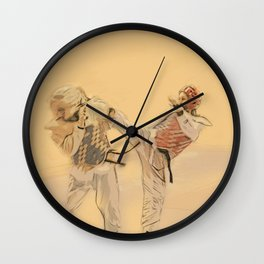 Tae Kwon Do Head Kick Wall Clock