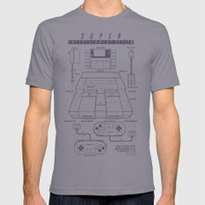 Super Entertainment System (light) Mens Fitted Tee X-LARGE Slate