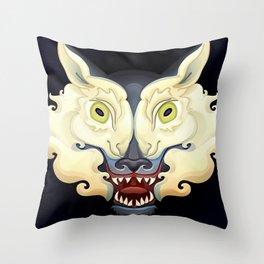 Wolf Lamb Throw Pillow