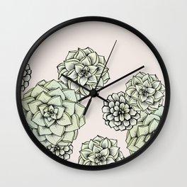 Rosette Succulents Wall Clock