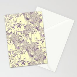 just goats purple cream Stationery Cards