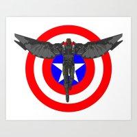 Falcon Volant Art Print