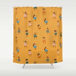 Hula party Shower Curtain