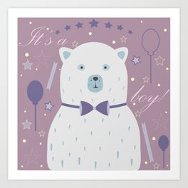 Cute Bear Art Print