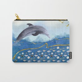 Dolphins Hunting Fish - Surreal Seascape Carry-All Pouch