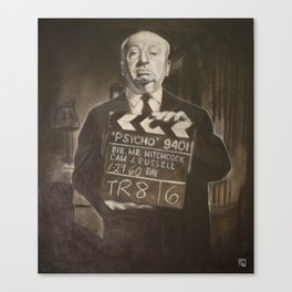 Alfred Hitchcock in Charcoal Canvas Print