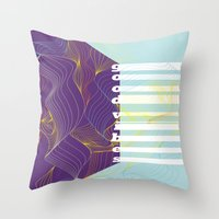 good vibes Throw Pillows featuring GOOD VIBES by Urban Artist
