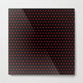 Polka / Dots - Red / Black Metal Print