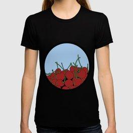 Cherries in a Bowl (Black Ring) T-shirt