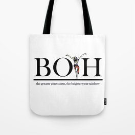 The Greater Your Storm The Brighter Your Rainbow Tote Bag