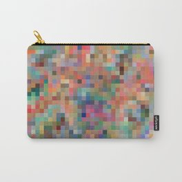Colorful pixelated pattern vibrant colors wallpaper background Carry-All Pouch
