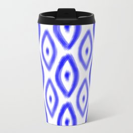 Cobalt Diamond Pattern Travel Mug