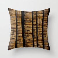 woody Throw Pillows featuring woody by colli13designs