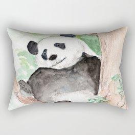 Panda, Hanging Out Rectangular Pillow
