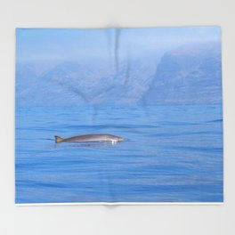 Beaked whale in the mist Throw Blanket