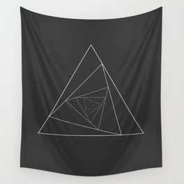 Triangle Spiral Geometric Minimalist Syndrome Wall Tapestry