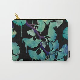 O Ginkgo (on Black) Carry-All Pouch