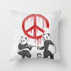 Pandalism V2 Throw Pillow