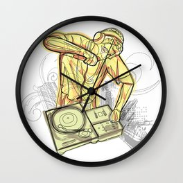 Dj Lines Wall Clock