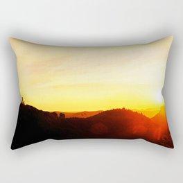 Scenic landscape and sundown Rectangular Pillow